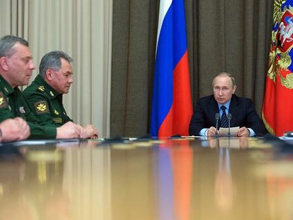 Владимир Путин провёл совещание с руководством Министерства обороны