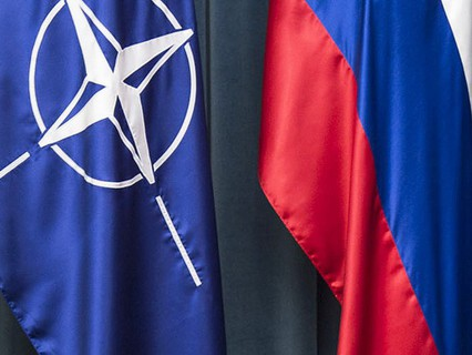 Флаги НАТО и России