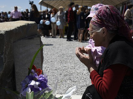 На церемонии открытия первой очереди мемориального комплекса в Крыму, посвящённого жертвам депортации