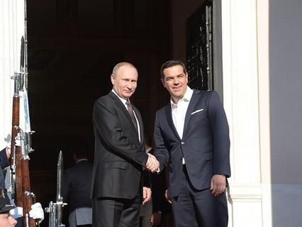 Владимир Путин и премьер-министр Греции Алексис Ципрас