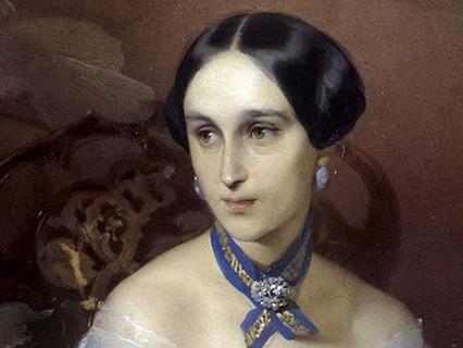Портрет Натальи Николаевны Ланской (вдовы А.С. Пушкина, урождённой Гончаровой)