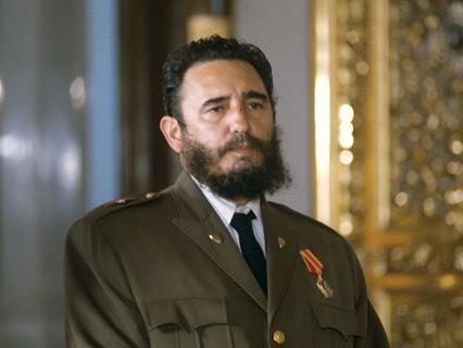 Фидель Кастро после вручения ордена Ленина