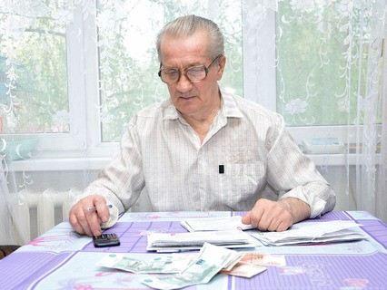 Пенсионер подсчитывает пенсию