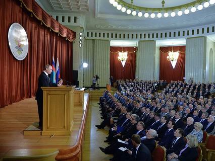 Владимир Путин выступил на совещании послов и постоянных представителей Российской Федерации