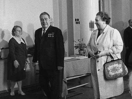 Леонид Ильич Брежнев с супругой Викторией