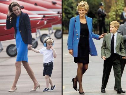 Герцогиня Кембриджская Кэтрин и принцесса Диана