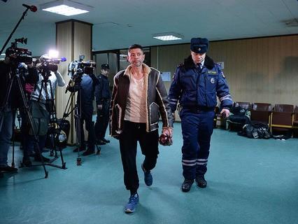 Актёр Валерий Николаев в Пресненском районном суде Москвы