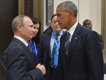 Владимир Путин и президент США Барак Обама во время встречи в Ханчжоу