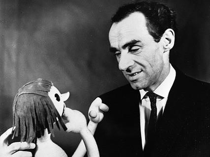 Зиновий Гердт с куклой