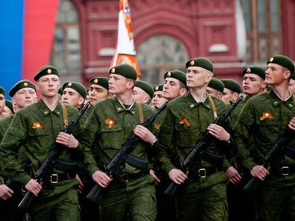 Парадный расчёт сухопутных войск Вооружённых сил РФ