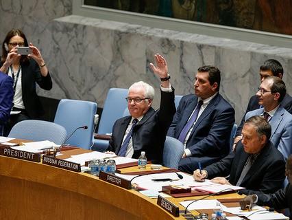 Виталий Чуркин на заседании Совбеза ООН