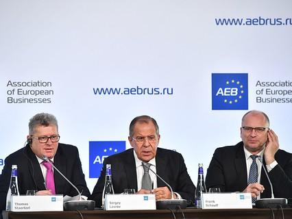 Встреча главы МИД РФ Сергея Лаврова с Ассоциацией европейского бизнеса