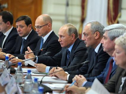 Владимир Путин на заседании Совета по межнациональным отношениям в Астрахани