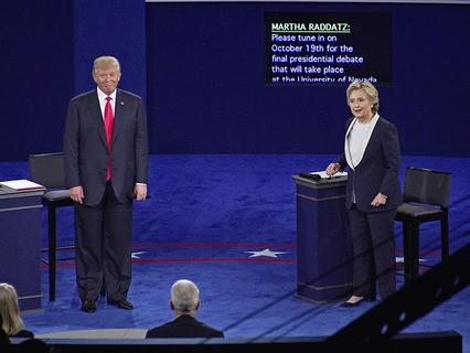 Кандидаты на пост президента США - Дональд Трамп и Хиллири Клинтон