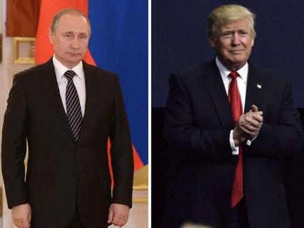 Президент России Владимир Путин и избранный президент США Дональд Трамп