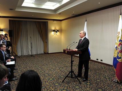 Владимир Путин на пресс-конференции по итогам встречи лидеров экономик форума АТЭС в Лиме