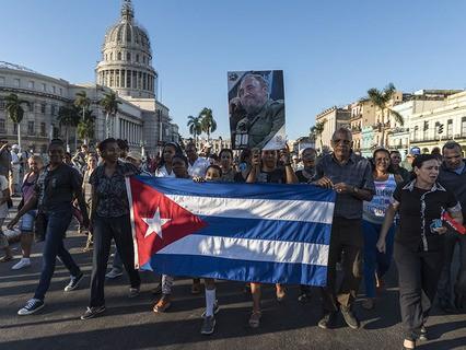 Куба прощается с Фиделем Кастро