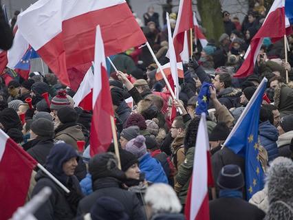 Акция протеста у польского парламента