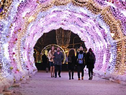 Новогодняя иллюминация на Тверском бульваре