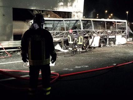 Авария пассажирского автобуса в Италии