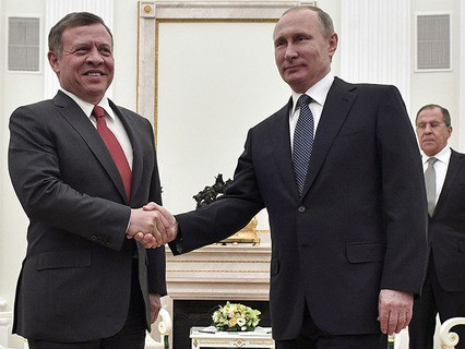 Король Иордании Абдалла II и президент РФ Владимир Путин