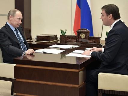 Владимир Путин и председатель правления Россельхозбанка Дмитрий Патрушев