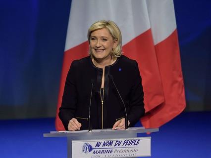"""Лидер французского """"Национального фронта"""" Марин Ле Пен"""