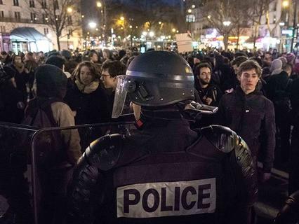 Протест против полицейского произвола в Париже