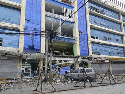 Последствия землетрясения на Филиппинах