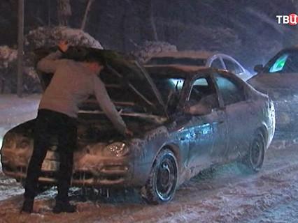 Снежная буря в Ростове-на-Дону