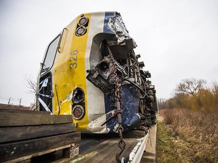 Авария пассажирского поезда в Бельгии