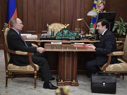 Владимир Путин и ректор Академии народного хозяйства и госслужбы РФ Владимир Мау
