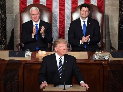 Дональд Трамп выступил перед Конгрессом США