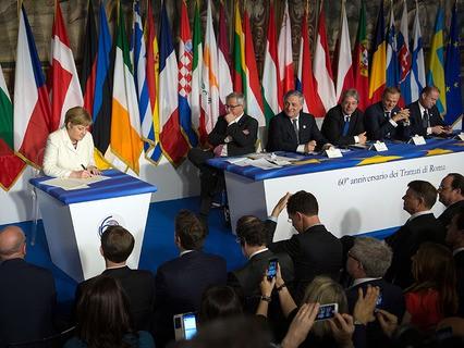 Празднование 60-летия Римского договора в Италии