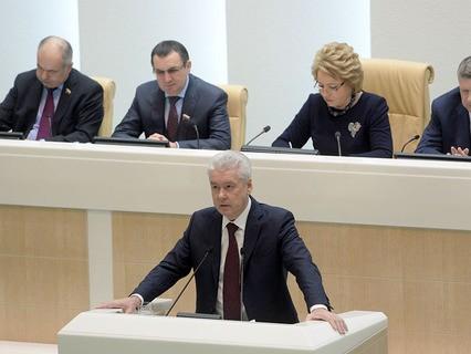 Сергей Собянин на заседании Совета Федерации РФ