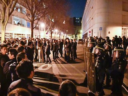 Массовые акции протеста в Париже
