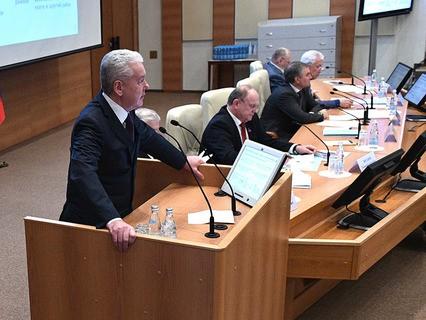 Расширенное заседание Cовета Госдумы РФ с участием мэра Москвы Сергея Собянина