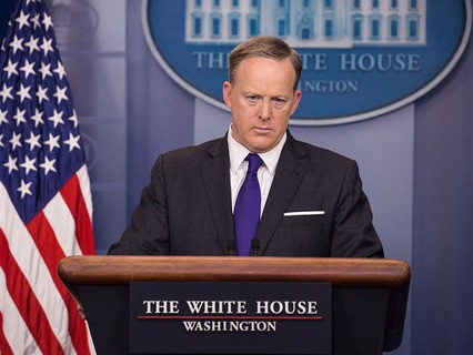 Официальный представитель Белого дома США Шон Спайсер