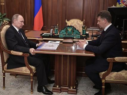 Владимир Путин и министр транспорта РФ Максим Соколов