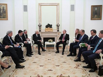 Владимир Путин и президент Италии Серджо Маттарелла