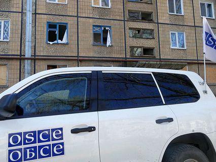 Автомобиль представителей ОБСЕ