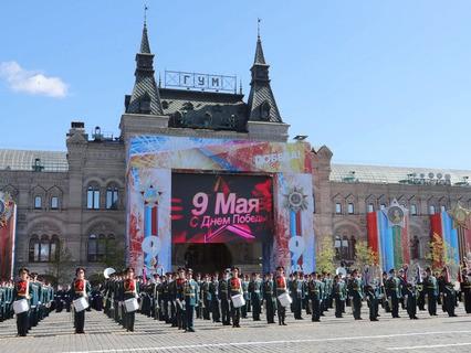 Военнослужащие на генеральной репетиции Парада Победы