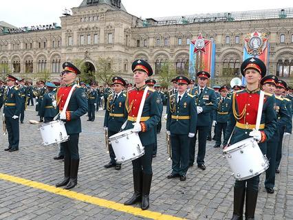 Перед Парадом Победы на Красной площади
