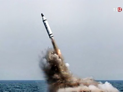 Запуск ракеты. КНДР