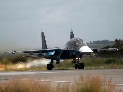 Истребитель-бомбардировщик Су-34 ВКС РФ