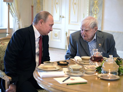 Владимир Путин и писатель Даниил Гранин