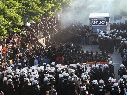 Протесты в Гамбурге
