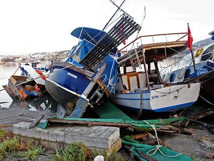 Последствия землетрясения в турецком Бодруме