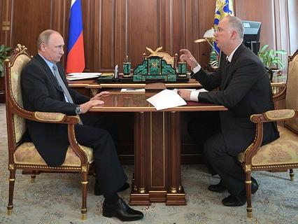 Владимир Путин и председатель правления Российского фонда прямых инвестиций Кирилл Дмитриев