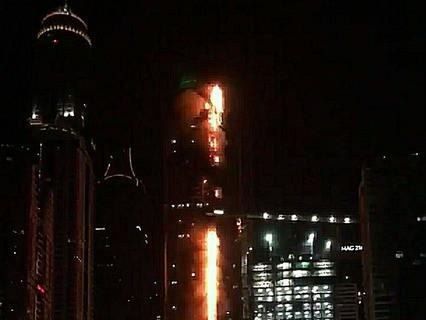 Пожар в высотке в Дубае